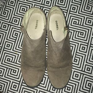 Sorel suede ankle boot